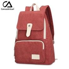 Canvasartisan top qualität frauen leinwand rucksack neue mode-stil freizeit weibliche reise rucksuck rucksäcke verschiedene farbe