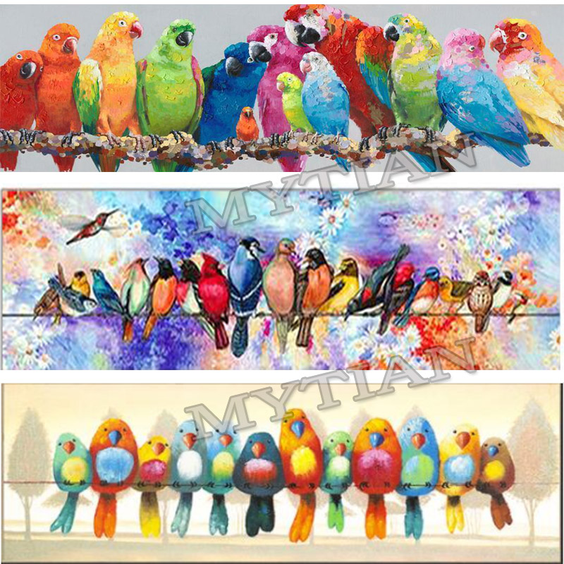 Colorful Birds full drill Mosaic 5D Diy Embroidery Diamond Painting rhinestone Parrot 3D Cross Stitch Kits animal Stickers decorColorful Birds full drill Mosaic 5D Diy Embroidery Diamond Painting rhinestone Parrot 3D Cross Stitch Kits animal Stickers decor