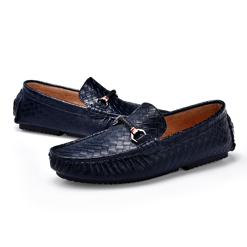 Men'S Genuine Leather Casual Shoes Outdoor Men Loafer Moccasins Men Loafers Leather Casual Boat Shoes 3#15D50