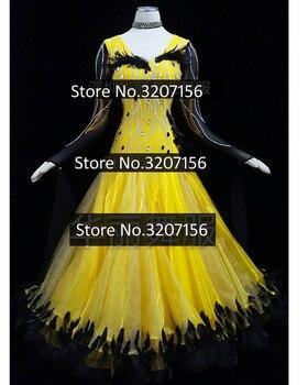 bc8427950f6f5f4 Бальных танцев платье конкурс Вальс платье Танго танцуют носить Стандартный  Танцевальный костюм для Леди Grils фокстрот Танцы одежда