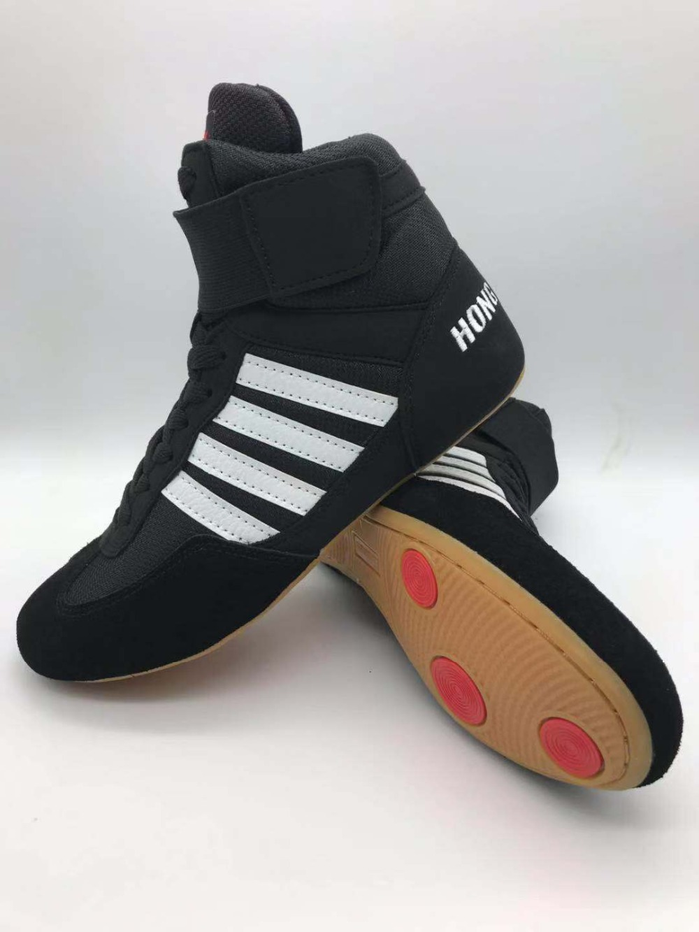 Men Wrestling Shoes High Boxing Shoes Rubber Outsole Breathable Pro Wrestling Gear For Men And Women Boxeo