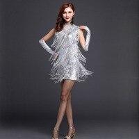 New 2015 Performance Ballroom Dancing Salsa Dance Dresses With Tassels Samba Carnival Costumes Latin Dance Dress