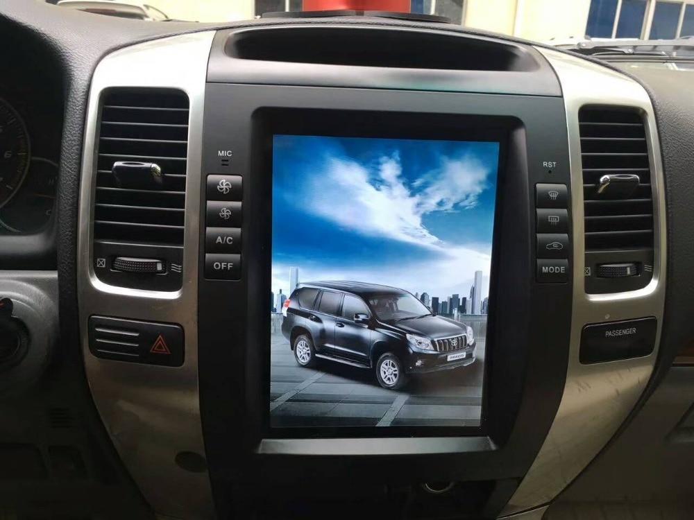 Big Screen Vertical Tesla Style Android Car Dvd Player For Toyota Prado Land on Toyota Land Cruiser Prado 2003