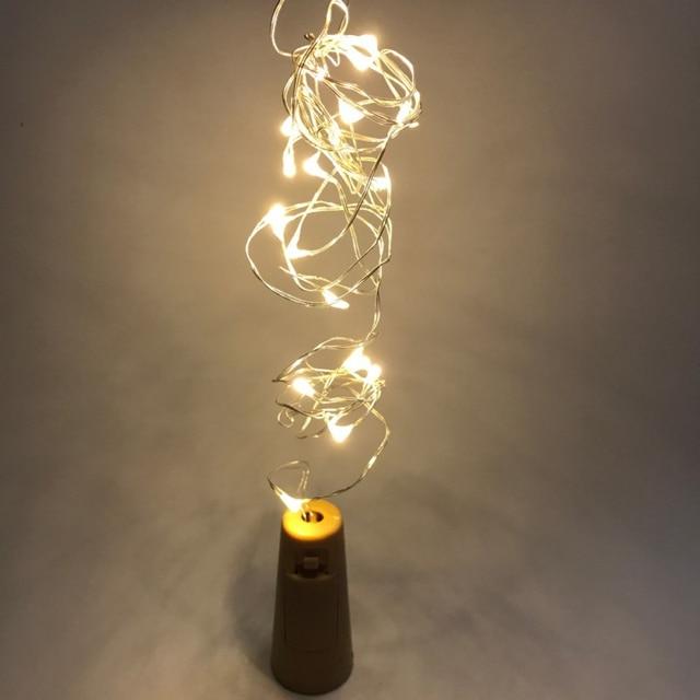 5pcs 1m 10 Led Lamp Cork Shaped Bottle Stopper Light Glass Wine Silver Wire String
