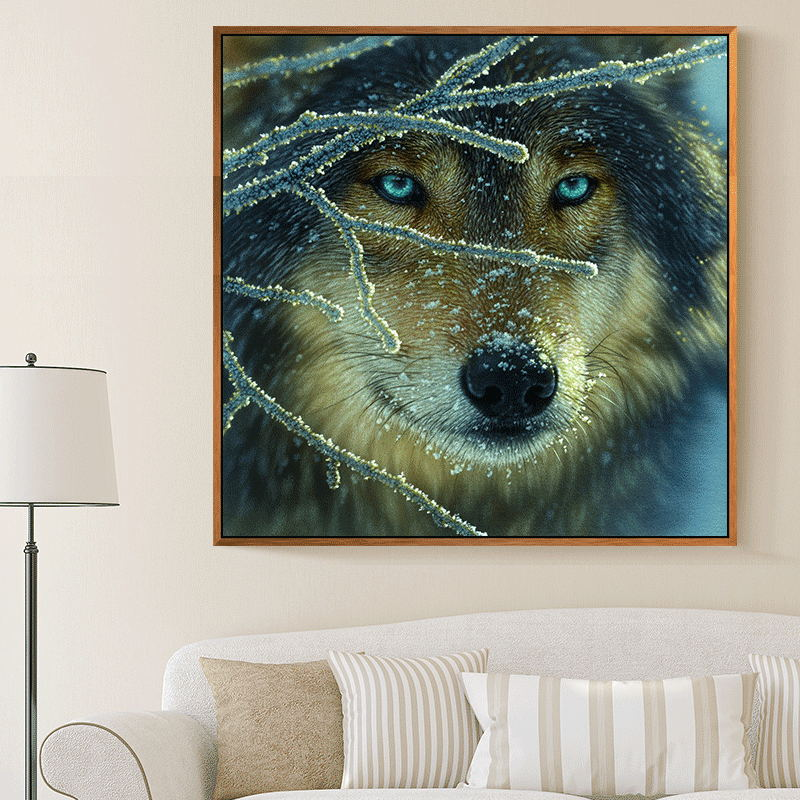 Meian,Full Embroidery,DIY Wolf Painting,Cross stitch,kits,14CT Animal Cross-stitch,Sets For Embroidery,40x40cm Needlework,VS-18