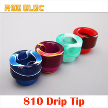 REE ELEC Drip Tips For Electronic Cigarette RDA Tank Resin Wide Bore Drip Tip 810 For Vape Pen E-Cig Mouthpiece