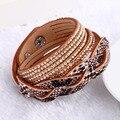 New Hot Selling 7 Color Vintage Leather Bracelet Summer Style Snake Skin Bracelets Fashion Women Jewelry !!