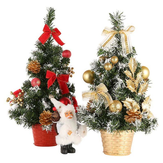 20cm 30cm 40cm mini christmas trees decorations a small pine tree placed in the desktop festival - Mini Christmas Decorations