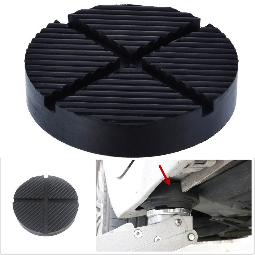 Image 2 - 1pcs Universal Rubber Cross Slotted Frame Rail Floor Jack Disk Pad Adapter Pinch Weld Side Tool Jacking Lifting Disk-in Auto Fastener & Clip from Automobiles & Motorcycles
