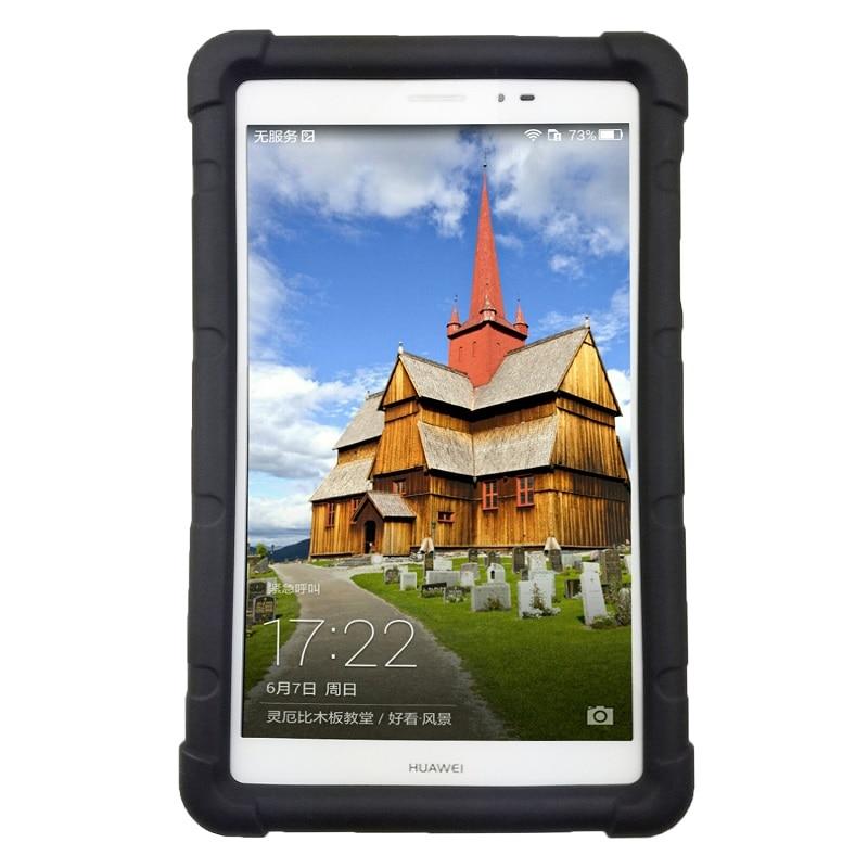 Huawei Mediapad T1 8.0 S8-701U / W Silikon Yumşaq örtük üçün Huawei T1 8.0 Pro T1-821L / U / W Tablet Zərbəyə davamlı
