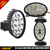 Oval 12V 24V 40W Led Agricultural Lights EMC Tractor Work Lamp With Swivel Side Mounted For