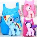 Mi lindo pequeño pony pequeña felpa de dibujos animados para niños bolsas escuela mochila