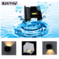 4pcs 7w up&down Led outdoor wall lamp waterproof Adjustable Surface Mounted Brief COB Cube wall light for home decorate lighting