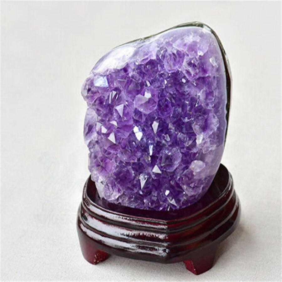 Из натуральной Уругвая красивый фиолетовый кварцевые пещера Geode Кристалл кластера 300 г