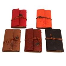 Vintage Notebook Diary String Leaf Travel Leather Paper Journal Book Sketchbook! D14