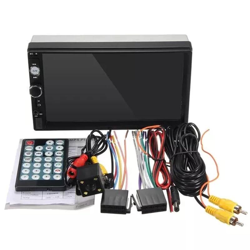 7 pouces 2 Din écran tactile autoradio lien miroir Bluetooth MP3 MP5 lecteur multimédia USB/AUX Auto Radio stéréo caméra de recul