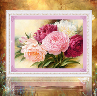 Diy 5d Diamond Painting Peony Flower Diamond Embroidery Set Diamond Mosaic Home Decorative Beauty Gift
