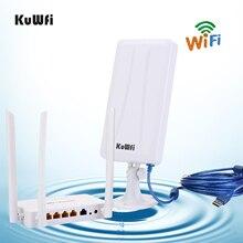 Roteador sem fio de alta potência openwrt com 4pcs 7dbi antena, adaptador sem fio de alta potência com 14dbi antena & 5 m cabo usb