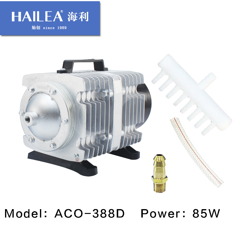 90L/min HAILEA ACO-388D Electrical Magnetic Aquarium Air Compressor Pump With Air Divider Fish Tank Hydroponics Pond Air Aerator