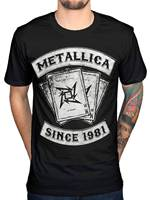 LEQEMAO New 100 Cotton Metallica Dealer Since 1981 T Shirt Heavy Thrash Metal Rock Band Designer