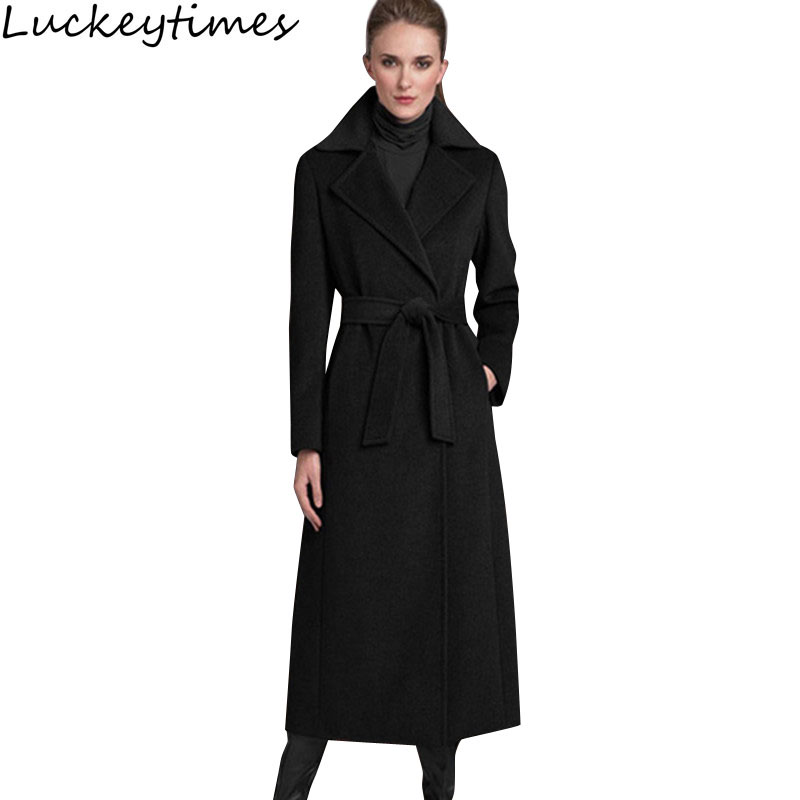 Online Buy Wholesale long black cashmere coat from China long