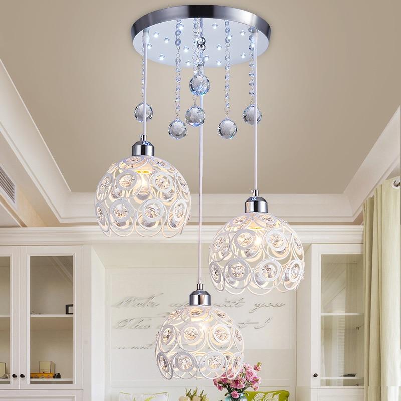 ФОТО new restaurant Pendant Lights crystal lamp single bar single-three aisle porch lamp library iron decorative Pendant lamps