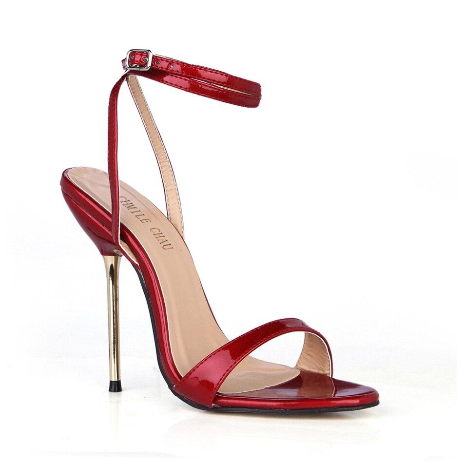 Boutique en ligne 1b64f 6f885 € 19.01 55% de DESCUENTO CHMILE CHAU Sexy Conciso Party Zapatos de Mujer  Tacones Altos Zapato con Cierre de Aguja de Hierro Bola de Las Señoras ...