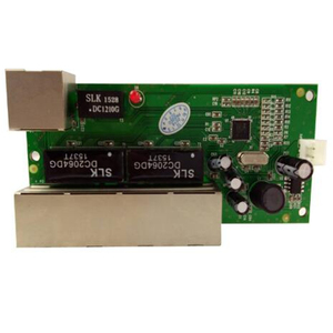 Image 2 - OEM ミニスイッチミニ 5 ポート 10/100 mbps ネットワークスイッチ 5 12 v ワイド入力電圧スマートイーサネット pcb rj45 モジュール led 内蔵