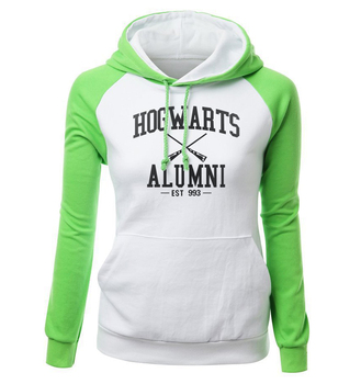 HOGWARTS ALUMNI Letter Print Women's Sweatshirt 2018 Autumn Winter Fleece Raglan Hoody Brand Clothing Fashion Pullover Harajuku 2