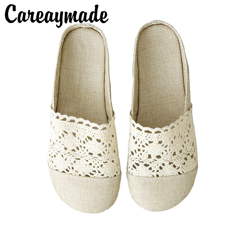 Careaymade Literary and Art Retro hollow Flat soled Shoes 2019 Summer New Cotton and Hemp Comfortable