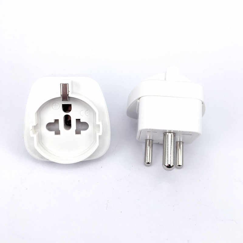 1 Pc Wit Zwart S. afrika Converter Au Uk Us Eu Small Zuid-afrika Plug Stopcontact Adapter Socket Nepal India Sri Lanka