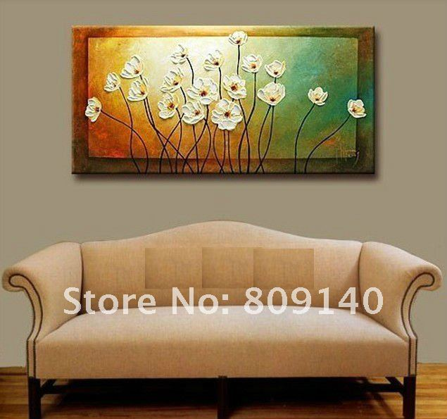 Flower Thick Oil Painting Canvas Simple Beautiful Artwork High Quality Hand Painted Home Office Hotel Wall
