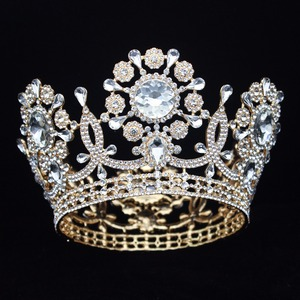 Image 5 - Grande casamento de cristal tiara coroa noiva headpiece feminino rainha baile diadem ornamentos cabelo cabeça jóias acessórios
