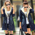 Women Denim Jackets Mid-Long Cardigan Spring Autumn Overcoat Women Slim Casual Coat