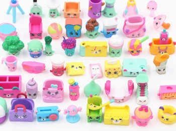 30-50pcs/1lot shopkin children fruit cartoon brinquedo toys learning and educational action figure toy miniature christmas gift