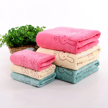 New Absorbent Microfiber Towel Bathroom Drying Washcloth Cute Rabbit Animal Beach Cotton Wash for Adult Baby 25x50cm