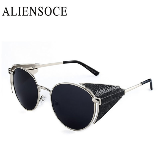 Hight Kualitas Logam Bingkai Goggle Pria Wanita Gothic Steampunk Sunglasses  Pria Merek Desainer Sun kacamata Kacamata 87095f633a