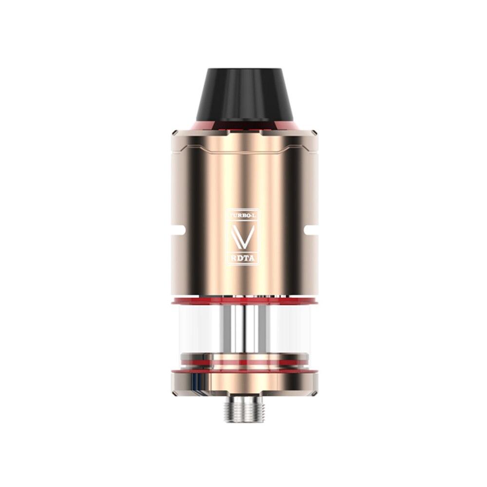 Atomiseur de Cigarette électronique 5.0 ml Turbo réservoir de RDTA-L RDA & RDTA débit d'air supérieur commutable 0.5ohm reconstructible pour kit de filetage 510