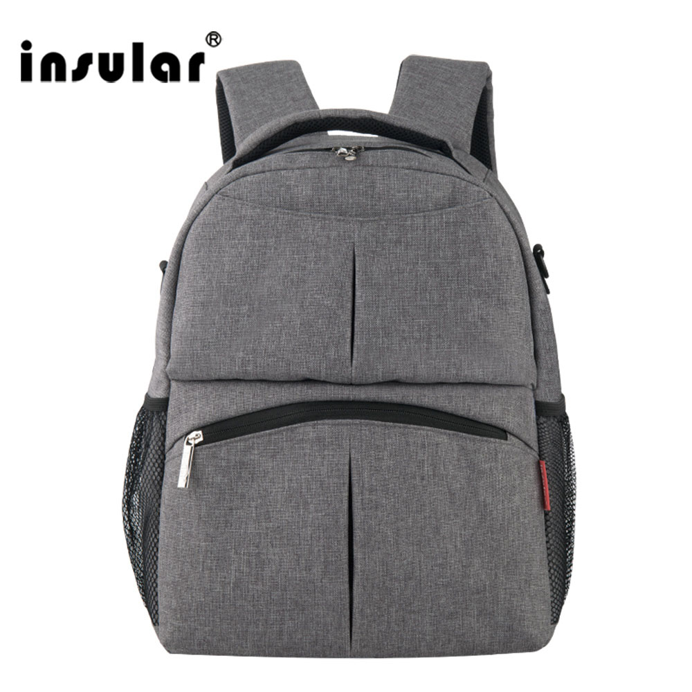 Diaper Bag Maternity Bag High-quality Breathable Mommy Travel Backpack Baby Care Nappy Backpack Stroller Bag Gray /Black