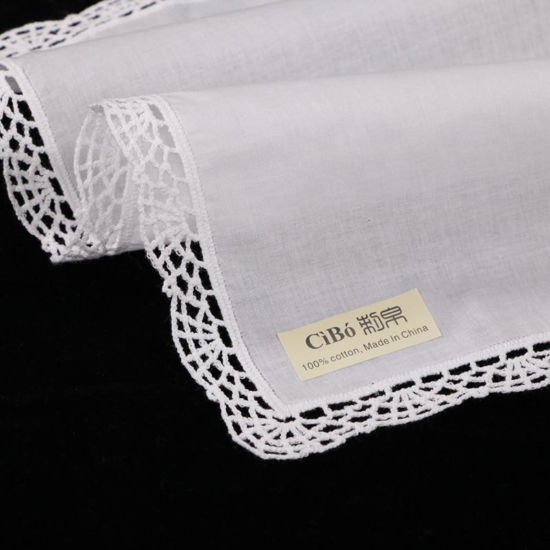 A005: blanco premium pañuelos de encaje de algodón crochet pañuelos ...