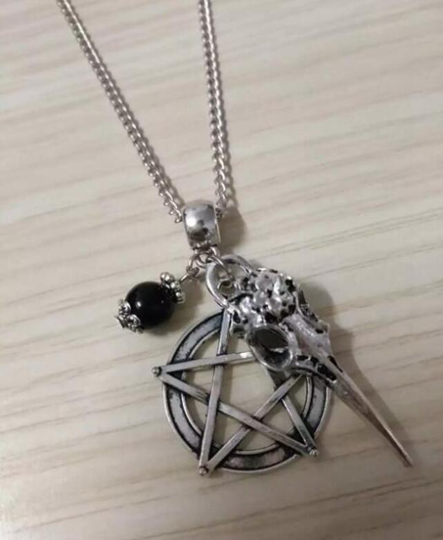 "13/"" Black Flat Faux Suede 3D Skull Head Tibetan Beads Pendant Choker Necklace"