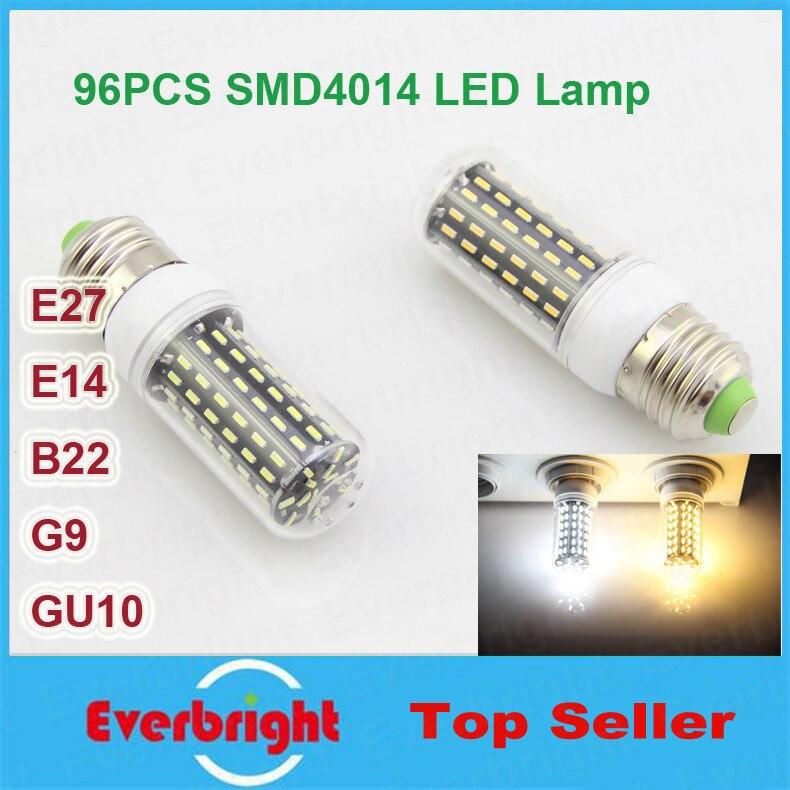 10 шт./партия E14 E27 G9 GU10 B22 25 Вт светодиодные лампы SMD 4014 96 светодиодов 220 В Светодиодная лампа Теплый белый/белый прожектор Свеча ...