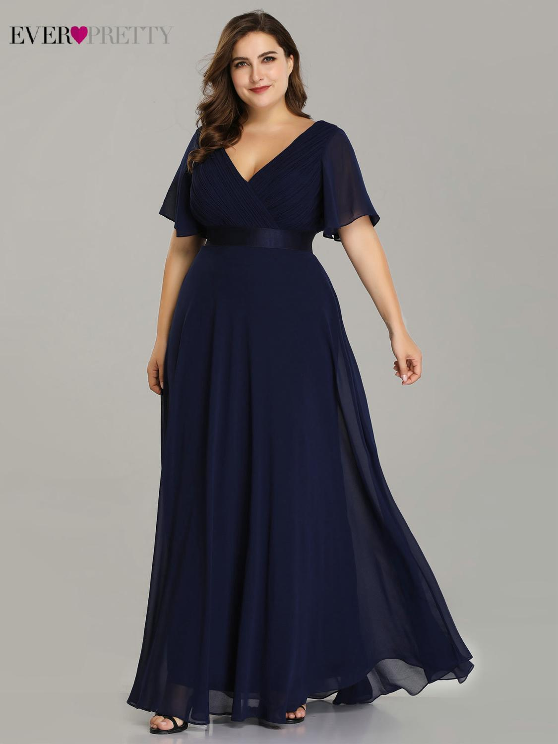 Party-Dress Evening-Dresses Robe-De-Soiree Ever Pretty Chiffon Formal Elegant Ruffles