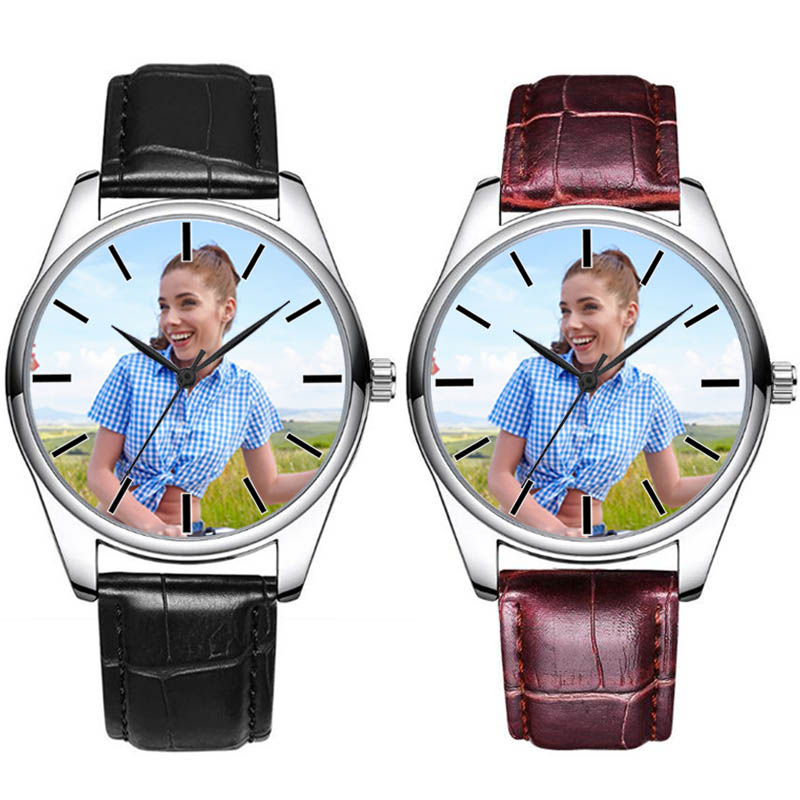 A4730 Custom Photo Watch DIY Watches Waterproof Unisex For Men Women Lovers Put Your Own Image Personalized Birthday Gift