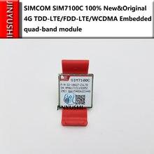 JINYUSHI PARA SIM7100C 4G 100% Novo & Original Genuine Distribuidor no estoque TDD-LTE/FDD-LTE/WCDMA Embutido quad-band do módulo