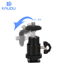 Kaliou 360 Rotating Mini Ball Head Ballhead Tripod with 1/4 Hot Shoe Base for Camera DSLR DV Gopro 6 5 4 3 3+ 2 1