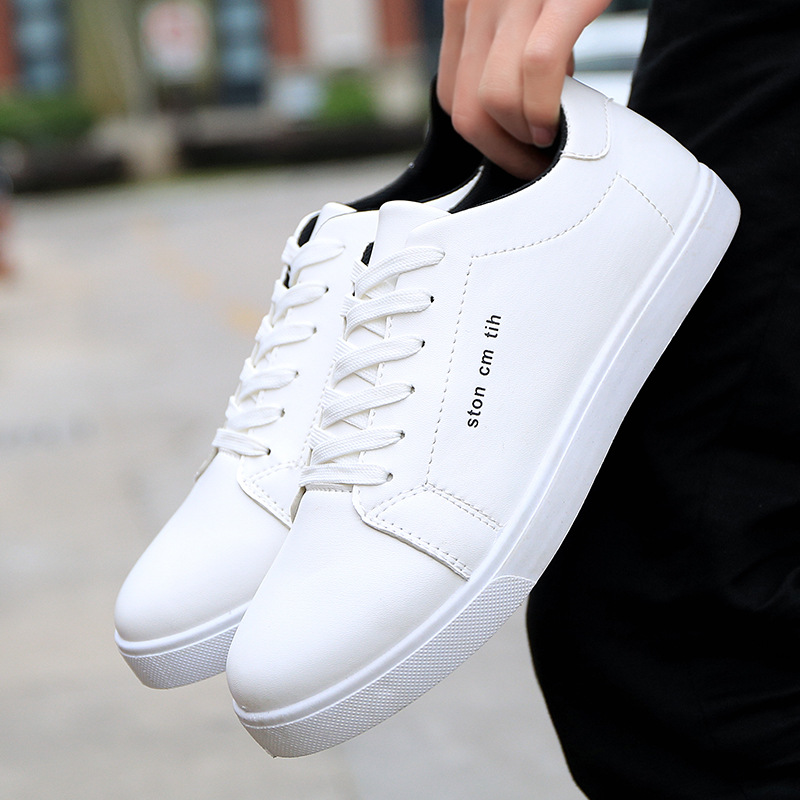 Mens White Shoes Low-top Casual Skateboarding Shoes Outdoor Leisure Sneaker Breathable Walking Shoes Flat Shoes Chaussure HommeMens White Shoes Low-top Casual Skateboarding Shoes Outdoor Leisure Sneaker Breathable Walking Shoes Flat Shoes Chaussure Homme