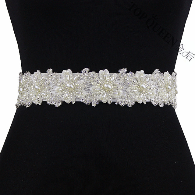 TOPQUEEN FREE SHIPPING S219 Pearls Wedding Belts Pearls Wedding sashes,Pearls Bridal Belts Pearls Bridal Sashes.