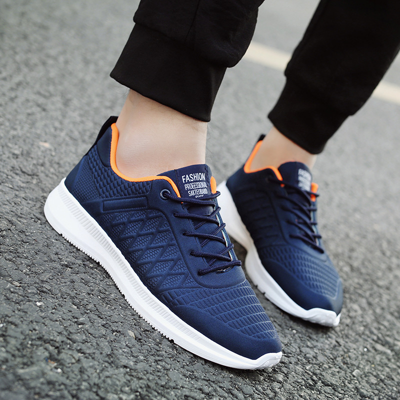 YeddaMavis Mens Shoes 2019 Spring New Men Sneakers Shoes Man Low cut Lace Up Running Shoes Mesh Shallow Soft Bottom Male Shoes in Men 39 s Casual Shoes from Shoes