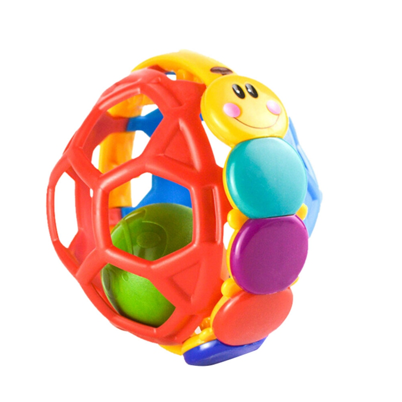 New Baby Toy Ball Bendy Baby Walker Rattles Develop Baby
